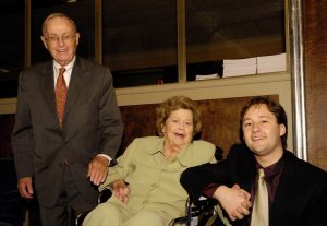 Richard Manuel, Constance Curtiss Manuel, and 2007 third prize winner Alexandre Moutouzkine.