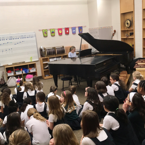 music class at elementary school