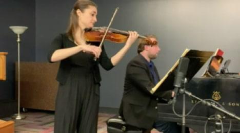 violinist at quarantine concert