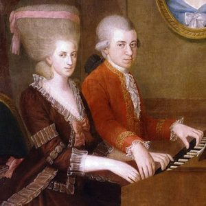 mozart children playing piano four hands