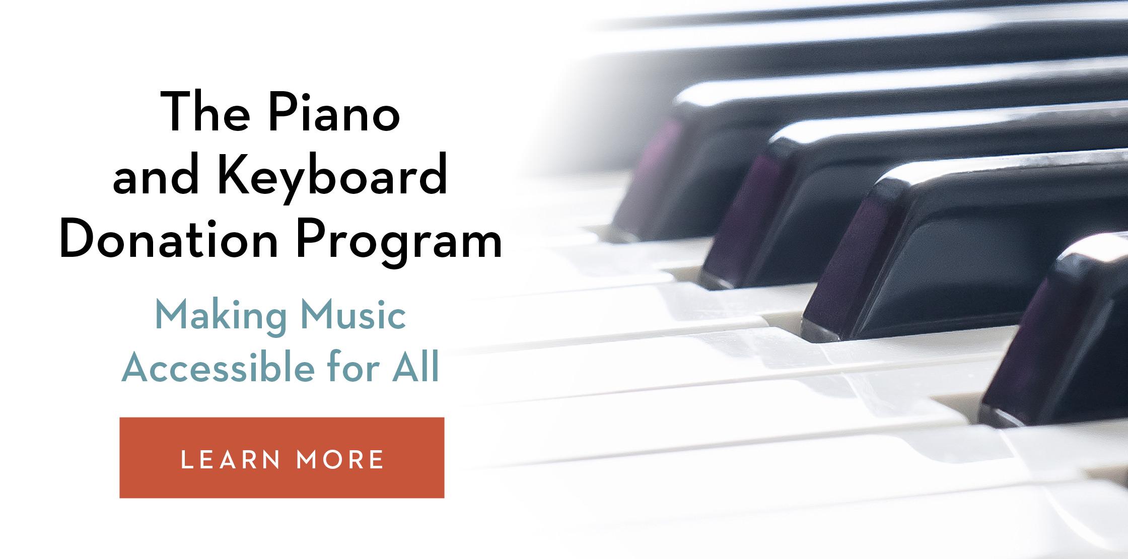 The Piano Keyboard Donation Program