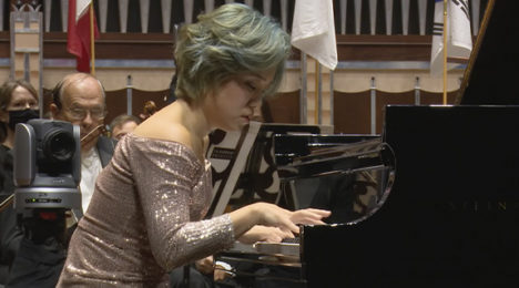 Byeol Kim performing with the world-renowned Cleveland Orchestra